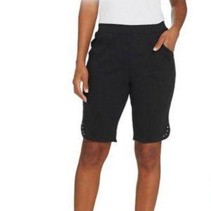 Quacker Factory Sparkle and Shine Knit Shorts 4082